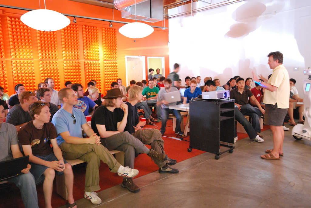 Paul Graham talking about Prototype Day at Y Combinator Summer 2009 (Photo by Kevin Hale)