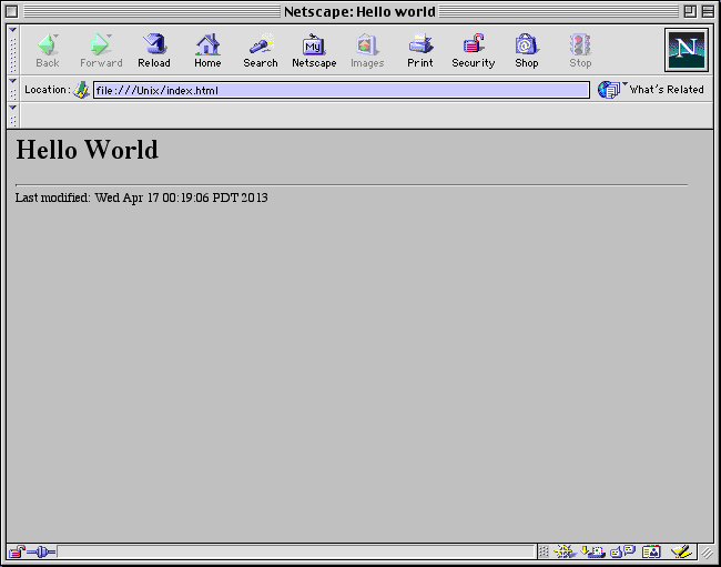 Netscape 4 on OS 9