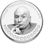 Platinum Coin with Dr. Evil on it